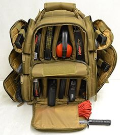 Hunting- Backpack   Range Bag with Large Padded Deluxe Tactical Divider and 9 Clip Mag Holder -- You can get more details by clicking on the image.
