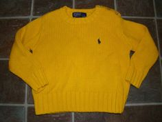 NWT Baby Gap Rugby Stripe V-Neck Sweater 3 3T Boys Yellow Gray Pop ...