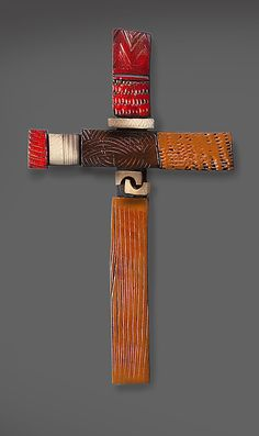 Red Cross by Rhonda Cearlock: Ceramic Wall Sculpture available at www.artfulhome.com
