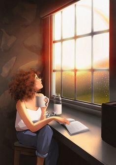 Art Anime, Anime Art Girl, Girl Cartoon, Cartoon Art, Look Wallpaper, Alone Art, Beautiful Fantasy Art, Digital Art Girl, Cute Illustration