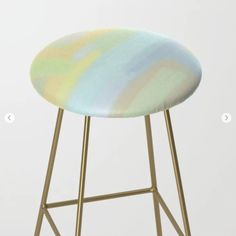 Mountain Dream Bar Stool by Spacefrogdesigns - Gold
