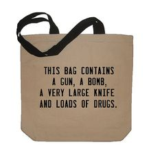 ... should this be my book bag, as Master of Arts - Criminology student? lol