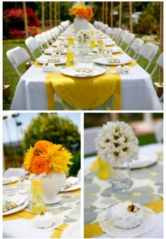 baby shower ideas for boys brown and yellow | the gray white and yellow colors are modern and bold