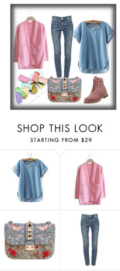 """""""Take a day off!!"""" by bren-johnson ❤ liked on Polyvore featuring Chicwish, Valentino, STELLA McCARTNEY and Timberland"""