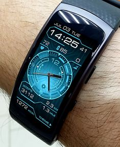 12 24 Cyber Fit Watch Face For Your Samsung Gear 2