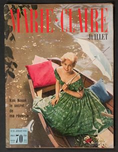 'MARIE-CLAIRE' FRENCH MAGAZINE KIM NOVAK COVER JULY 1956 |