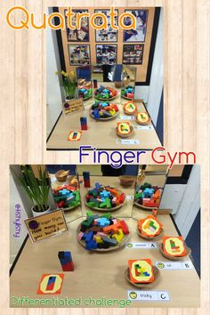 Quatrata Finger Gym. Differentiated by difficulty.