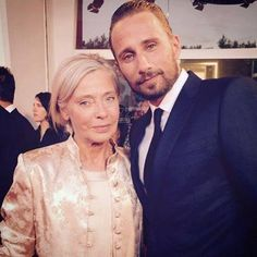 ❤️ Matthias Schoenaerts & mom