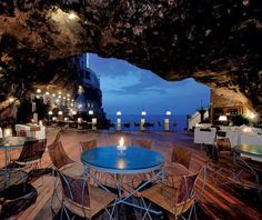 Restaurant in a cave… I was in one this summer on Lanzarote, Canary Island it was part of a house, amazing .