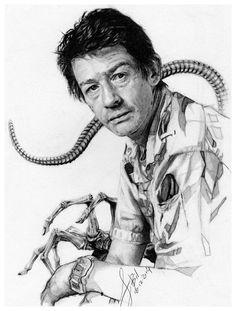 John Hurt as Kane from the movie Alien. Added the facehugger in the background uhgg. Alien Movie Series, Aliens Movie, Alien Origin, Science Fiction, Giger Alien, Alien 1979, Alien Vs Predator, Alien Worlds, Sci Fi Horror