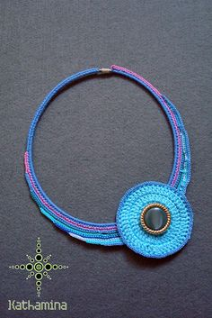 No tutorial. Pinned for cute necklace idea
