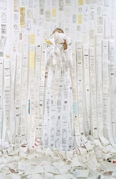 """Rachel Perry Welty, """"Lost in my Life"""" (Receipts), 2011"""