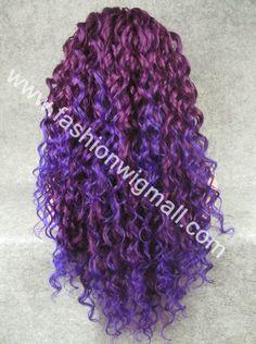 cabelo colorido cacheado - Pesquisa Google