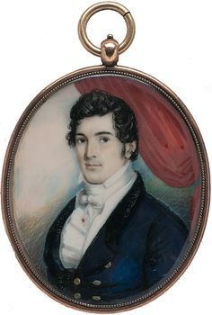 Miniature Portrait Of Stephen Thorn by George Augustus Baker Sr.   c.1818