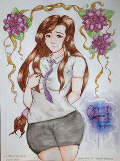 Watercolor: Ayane Shiun (Porkchop N Flatscreen) by hellgirl1998