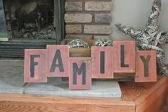 This is a great sign to pull your Family Picture Wall together! Family Rustic Barn Board Sign  Country Decor by K&ACountryDecor, GET YOURS HERE in White or Black Font!  https://www.etsy.com/listing/203763355/family-rustic-barn-board-sign-country?