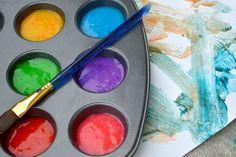 basteln-mit-2jährigen-kindern-fingerfarben-diy-essbar