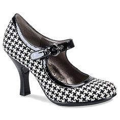 Women's Sofft Farra Black/White Houndstooth Fabric