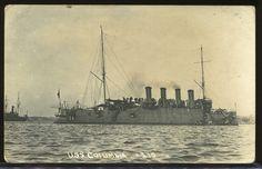 REAL PHOTO POSTCARD RPPC BANANA WARS U.S.S COLUMBIA US BATTLESHIP 1910-1916