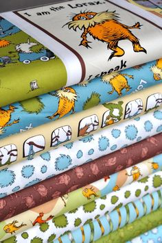 Oh my goodness Dr. Suess fabrics. How cute would this be for a children's room.