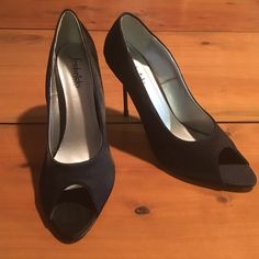 Frederick's Of Hollywood Satin Classy Heels Brand New Size 9M Satin Heels. Leather soles. Never worn Frederick's of Hollywood Shoes Heels