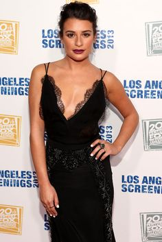 Lea Michele in Black Lace at LA Screenings on May 23, 2013