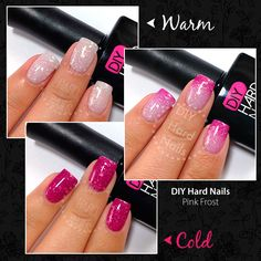 Pink Frost DIY Hard Nails Color Changing polish.  It works!!