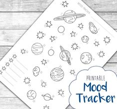 If youre as obsessed with outer space as I am, this Planets & Stars Mood Tracker monthly layout printable is the perfect addition to your bullet journal or planner! The digital download is instantly available for printing so you can set up your monthly spreads without delay. The A5 format