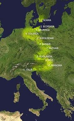 Principales étapes de la migration des LOMBARDS, de la Scandinavie (Scania) à l'Italie- CHARLEMAGNE. 4)BIOGRAPHIE. 4.5 ELARGISSEMENT DE TERRITOIRE. 4.5.2: L'ITALIE, 1: De toutes les guerres de Charlemagne, celles qu'il entreprit contre les Lombards sont les plus importantes par leurs conséquences politiques et celles aussi où se montre le plus clairement le lien qui rattache intimement la conduite de Charles à celle de son père.