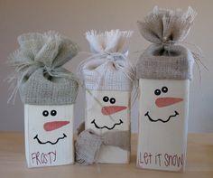 Cute 2x4 Snowmen