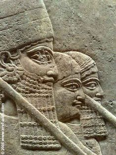 Detail of an Assyrian relief at the British Museum.    aref-adib.com