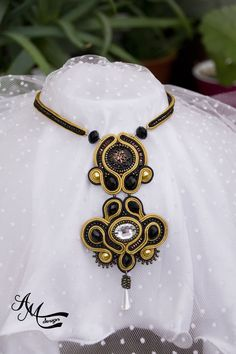 #soutache #necklace #jewelry #handmade