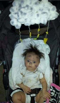 Struck by Lightning Baby Costume - Monika This is my 4 month old daughter. She has a lot of hair that naturally stands up and one day she looked like she ...  sc 1 st  Pinterest & These 10 First Halloween Costume Ideas for babies are scary cute ...