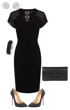 """""""LBD"""" by julietajj ❤ liked on Polyvore featuring Karen Millen, Christian Louboutin and Finesse"""