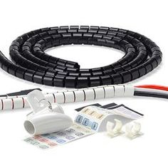 The Container Store > Cable Zipper® - keeps cords neat, hidden and not chewed by my tabby terror. Organizing Wires, Clutter Organization, Organization Ideas, Storage Ideas, Organize Cords, Organising, Storage Solutions, Bathroom Gadgets, Hide Wires