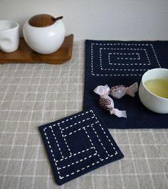 sashiko coaster  placemat kit