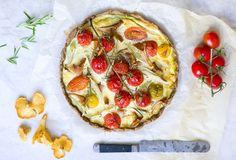 tomato + chanterelle tart.