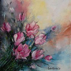 """""""Un buchet de ... """" Chiar nu știu ce flori sunt 🤔 Tablourile ies precum e starea interioară, de multe ori. Iriși, sau brândușe ... poate. Rămâne loc de imaginație. Painting, Art, Art Background, Painting Art, Kunst, Paintings, Performing Arts, Painted Canvas, Drawings"""