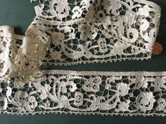 This might be an English needlelace border, might be early, from the 1/15/2017 Ebay Alerts.