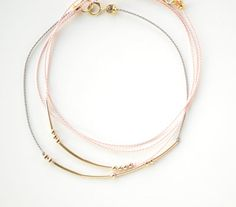 Idea via KB: morse code bracelets
