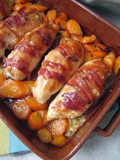 Blanc de poulet au cantal, carottes et poitrines fumées | La cuisine d'ici et d'ISCA