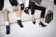 Behind the Scenes: an exclusive snapshot from the Giuseppe Zanotti's FW 14.15 AD Campaign set. www.giuseppezanottidesign.com