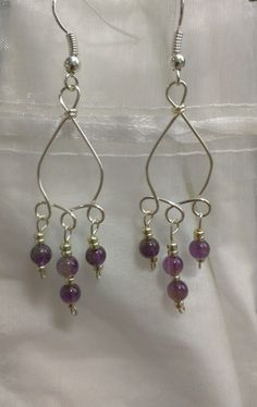Amethyst drop earrings by Jewelrybyila on Etsy