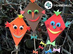 podzimní tvoření Kites Craft, Most Popular Hashtags, Drake, Activities For Kids, Halloween, Children, Pergola, How To Make, Crafts