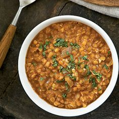 Jeff's all-time fav: Ethiopian Red Lentils. Serve with brown rice, diced cucumbers, and plain yogurt