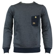 Duck and Cover 130118 Reilly Mens Sweat Jumper AW12 Blue/Black