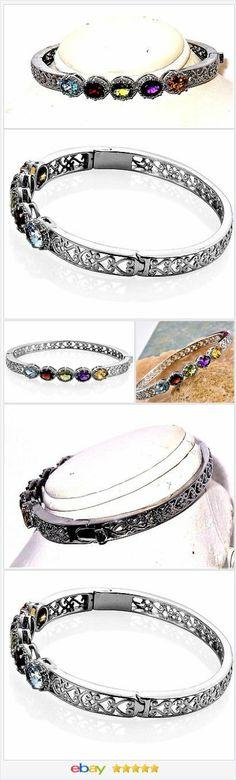 Topaz Garnet Peridot Amethyst Citrine Bangle Bracelet 6.55 carats    eBay  #GREEN 50% OFF #EBAY http://stores.ebay.com/JEWELRY-AND-GIFTS-BY-ALICE-AND-ANN