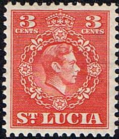 St Lucia 1949 King George VI SG 148 Fine Mint SG 148 Scott 137 Other Commonwealth Stamps here