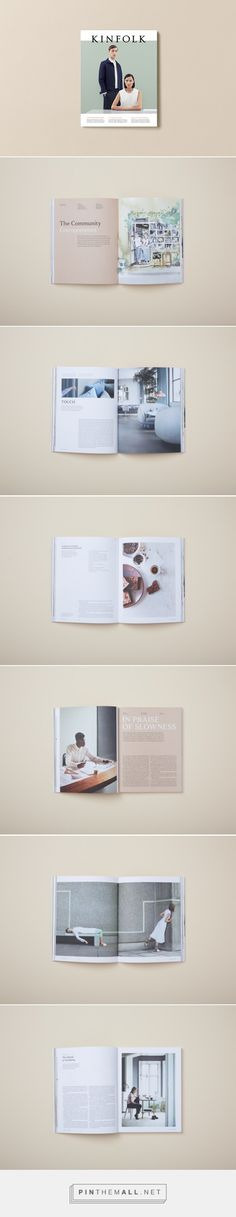 Kinfolk Issue Fifteen - more layout examples, they have experimented with layout on the cover for this issue, changing the position of the image and placing type over