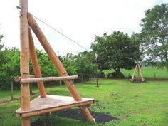 image Zip Line Backyard, Backyard For Kids, Backyard Projects, Outdoor Projects, Kids Outdoor Playground, Natural Playground, Kids Play Spaces, Kids Play Area, Kids Zipline